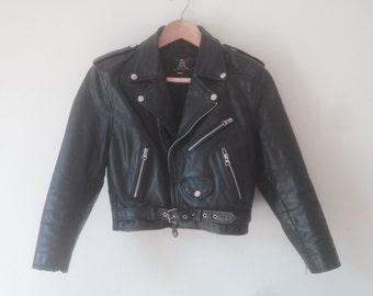 Original Black leather bicker's jacket 1978