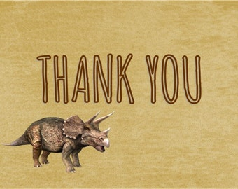 Dinosaur Thank You Notes / Kids Birthday Party / Printable / Printed