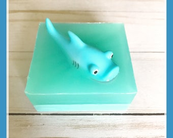 Shark soap-shark toy  soap, boys birthday gift, shark gift, Easter basket gift