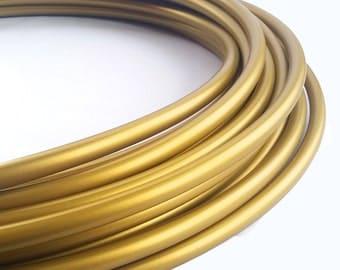 Metallic Gold 5/8 Polypro Hula Hoop// Customizable//Supper Light Weight//Trick Hoop//Dance Hoop