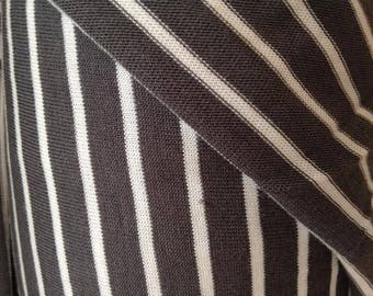 Pewter Stripe Bamboo and Cotton Knit