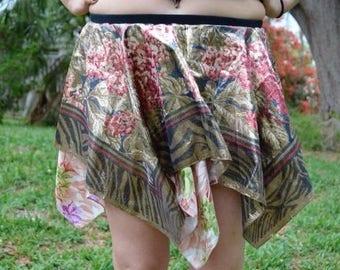 Shimmer Floral Hippie Fairy Skirt
