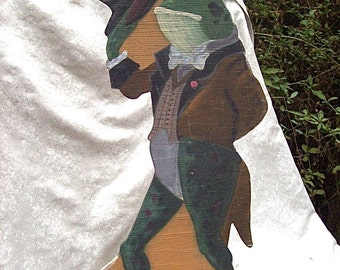 Large PAINTED WOOD Mister Frog All Dressed Up CUTOUT for Indoor / Outdoor Display Decoration