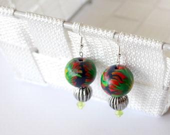 Handmade Kaleidoscopic Polymer Clay Earrings