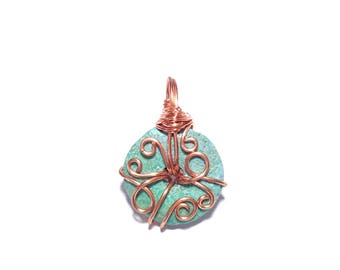 Copper Wrapped Gemstone Pendant
