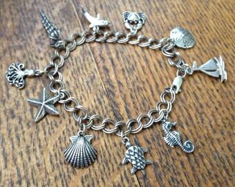 Sterling Seaside Charm Bracelet