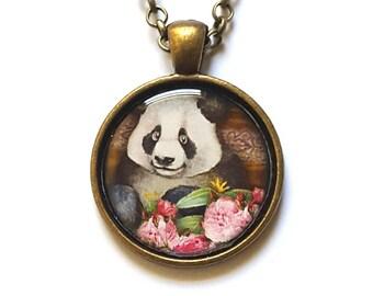 Panda Necklace Panda lover gift