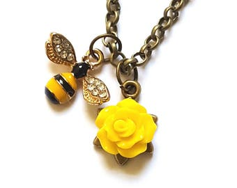 Bee Necklace Bee Jewelry Bee Lover Gift