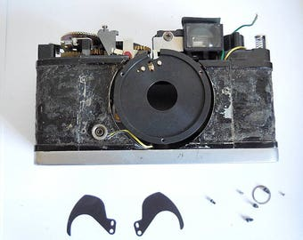 Olympus Trip 35 Camera USED PARTS for Repair, Body, Shutter Blades Bottom Plate
