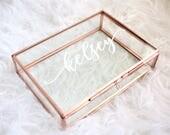 Personalized Glass Box Customized Jewelry Box / Bridesmaid Gift / Personalized Gift / Maid of Honor baby keepsake box Birthday G
