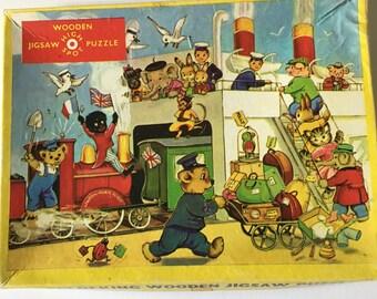 Sale Vintage Puzzle, High Spot Wood Puzzle, Jig-Saw Puzzle, 20 Piece Puzzle, Children's Puzzle