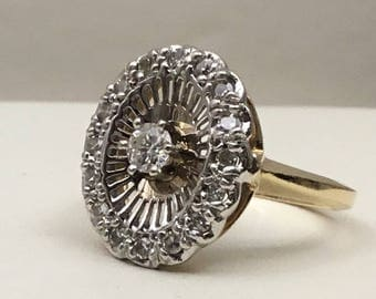 Vintage white/yellow 14kt gold with .42cts of diamonds