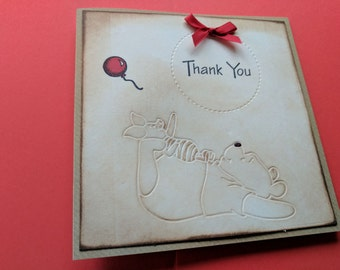 Beautiful Winnie the Pooh Thank You card