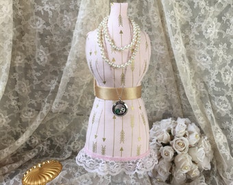 Mannequin Dress Form Pincushion Jewelry Display By