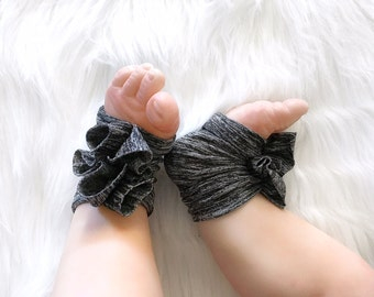Baby Sandals, Pre-Walker Baby Shoes, Baby Barefoot Sandals, Gladiator Charcoal Gray Baby Shoes, Yoga Baby Shoes, Comfortable Baby Shoes,