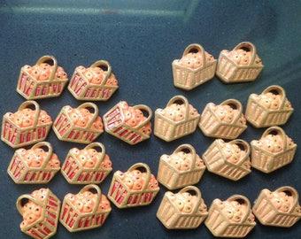 Basket of apples - craft supply