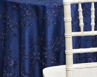 Laylani Lace Tablecloth in Navy - Ideal for Weddings & Bridal Events