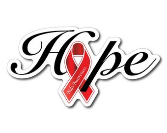 Hiv Aids Awareness Sticker/Decal or Magnet Set