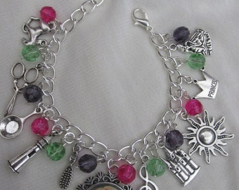 Childs Disney Tangled Charms Bracelet