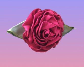 Vintage Silk Rose Pin