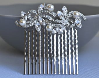 crystal hair comb, Vintage Inspired bridal hair comb, Swarovski hair comb,wedding hair comb,bridal hair accessories,wedding hair, HC054P
