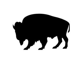 Buffalo Silhouette Etsy