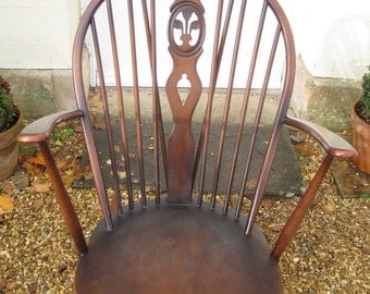 SOLD - Ercol Mid Century Golden Dawn Windsor Rocking Chair