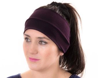 Workout headband ,Yoga headband, woman headband ,eggplant