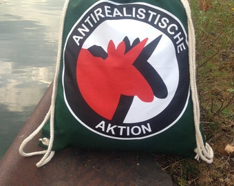 Anti realistic action - gym bags green red