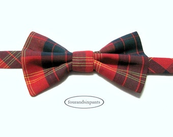 Boys bow tie, bow tie, boys ties, bow tie for boys, tartan bow tie, red bow tie, red tartan, boy bow tie, toddler bow tie, baby bow tie