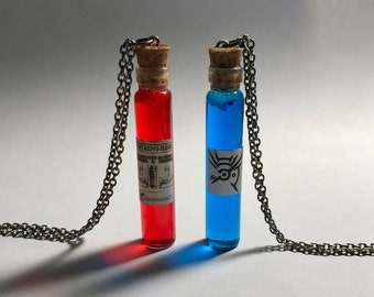 Dishonored inspired Health Elixir and Mana Necklaces