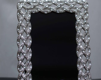 Medium sized 4x6 Black Scrying Mirror for Gypsies, Divination, Fortune Telling, Witchcraft