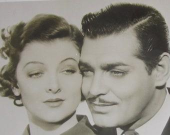 Original 1936 Movie Actor Clark Gable Myrna Loy Wife Versus Secretary Movie Still 8 x 10 Photo - Free Shipping