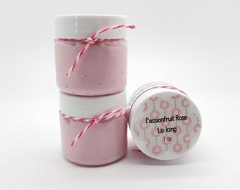 Passonfruit Rose Lip Butter, Lip Balm, Lip Icing 1 oz Jar