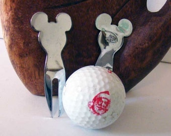Disney golf divot tool, Mickey Mouse divot, golf divot tool