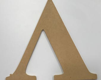 "Greek Letter ""Lambda"" MDF Wood 10"""