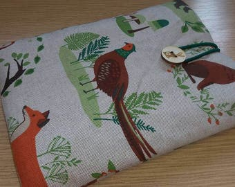 Wildlife Kindle / E Reader / Tablet Sleeve  (Made to Order)