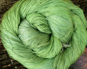 MULBERRY SILK laceweight, pure silk, hand dyed, 100 gms, 800 mts, Mollycoddle Yarns, indie dyer