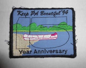 "Vintage 1994 Keep Pennsylvania Beautiful Patch 3.5""x2.75"""