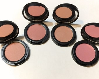 Organic Mineral Blush Natural Face Color - Gluten Free Vegan Pressed Makeup - Multi-Tasking Botanical Plant Makeup