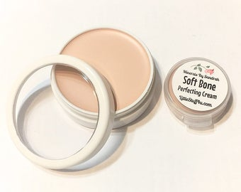 SOFT BONE Perfecting Cream Foundation - Creamy Foundation Concealer Makeup - Vegan Gluten Free