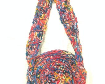 Hand Made Crocheted Bag Purse Satchel Spring Fling Light and Breezy