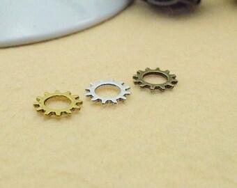 50pcs 12mm Antique Gear Watch movement Pendant