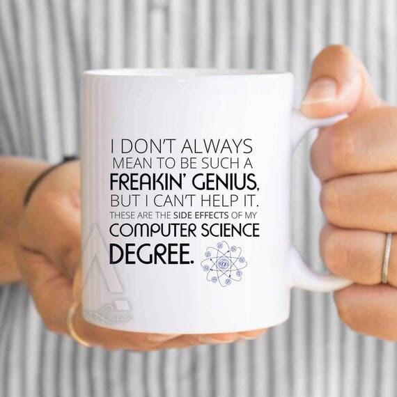 Computer science gifts funny computer degree coffee mug