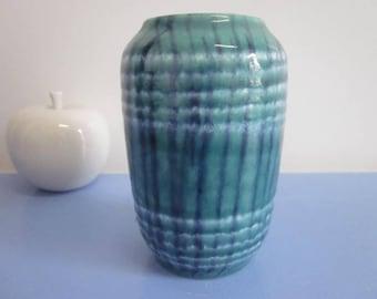 Scheurich 238 small German ceramic vase in turquoise 60s 70s WGP lava