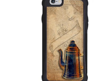 Coffee Phone Case, Coffee Pot Art Design, iPhone 5 5s 6 6s 6+ 6s+ SE 7 7+ iPod 5 6 Case, Plus