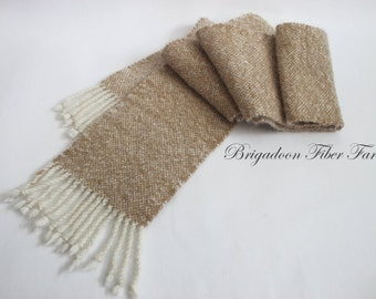 hand woven scarf, Alpaca, white, gold, hand woven, alpaca scarf, unisex