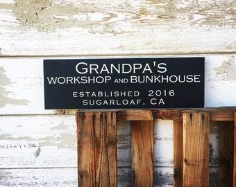 Custom Frameless wood sign