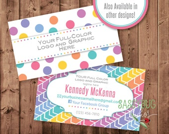 Business Cards | Personalized | 3.5 x 2 | Two-Sided with Business Info | DIGITAL PRINTABLE