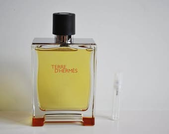 Terre d'Hermes Pure Perfume Eau De Parfum 5 ml Glass Sample *Not a full size bottle*